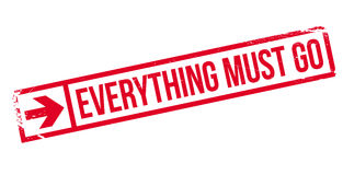 Everything Must Go rubber stamp Royalty Free Stock Photography