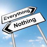 Everything or nothing concept. Royalty Free Stock Photo