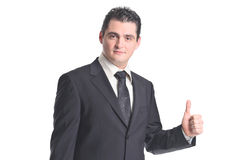 Everything is OK Businessman with thumbs up Royalty Free Stock Photos