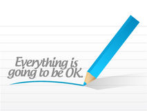 Everything is ok message Stock Photography