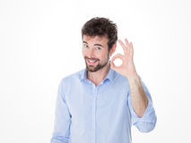 Everything okay for this confident man Stock Photos