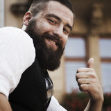Everything is Okay. Hipster man showing that all is well. Gestur Royalty Free Stock Photos