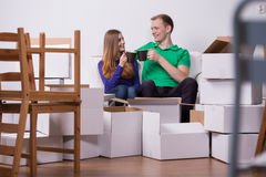 Everything packed, we're ready to move out Royalty Free Stock Photos