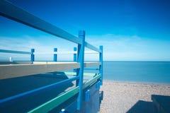 Beach Hut Blues Stock Photo
