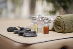 Everything in place for the massage Stock Photo