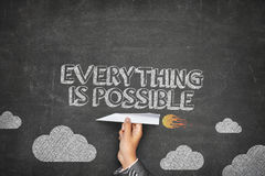 Everything is possible concept Stock Image
