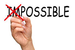 Everything is possible concept Stock Images