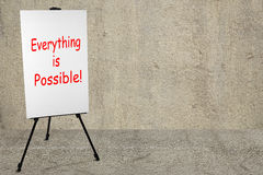 Everything is possible Royalty Free Stock Photos