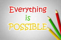 Everything Is Possible Concept Royalty Free Stock Image