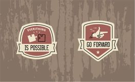 Everything is possible - motivational badge design Royalty Free Stock Image