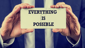 Everything is possible Royalty Free Stock Images