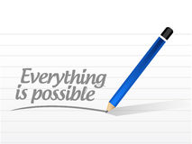 Everything is possible sign message Stock Photos