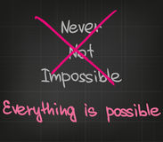 Everything is possible Stock Image