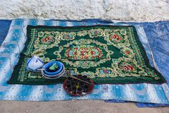 Everything is prepared for coffee ceremony. Harar. Ethiopia. Stock Image