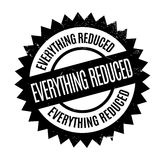 Everything Reduced rubber stamp Stock Images