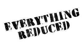 Everything Reduced rubber stamp Royalty Free Stock Photos
