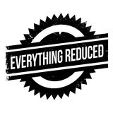 Everything Reduced rubber stamp Royalty Free Stock Image