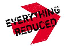 Everything Reduced rubber stamp Stock Image