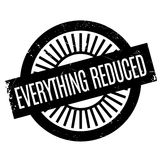Everything Reduced rubber stamp Stock Photo