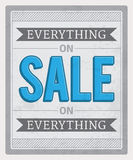 Everything On Sale Stock Image