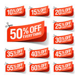 Everything is on Sale coupons. Illustration Stock Photo