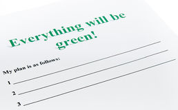 Everything will be green ! Royalty Free Stock Images