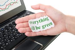 Everything will be green Stock Photos