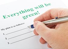 Everything will be green ! Stock Photo