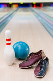 Everything you need for plying bowling. Stock Photography