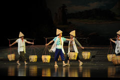 Everywhere Bang Bang Jun- Jiangxi opera a steelyard Royalty Free Stock Photo