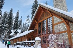 Overwhelming Winter Lodge royalty free stock image