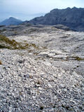 Everywhere stones. Mountains with many white stones Royalty Free Stock Photography