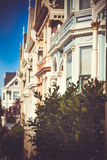 Everywhere you go. Victorian houses line the streets of San Francisco, but there is nothing like the Full House original Stock Photography