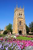 Evesham Abbey Clock Tower Royaltyfri Foto
