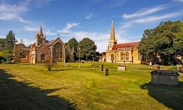 Evesham kyrkor Arkivfoton