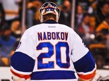 Evgeni Nabokov New York Islanders. New York Islanders goalie Evgeni Nabokov #20 stock images