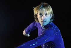 Evgeni Plushenko Kings no gelo Imagem de Stock Royalty Free