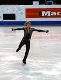 Evgeni Plushenko (Russia). ISU European Figure Skating Championship 2010 in Tallinn, Estonia. Evgeni Plushenko from Russia in Men's short program. Saku Suurhall Stock Images