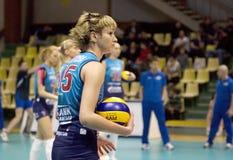 Evgeniya Kozhukhova. Spiker da equipe de Moscovo do dínamo Fotografia de Stock Royalty Free