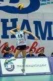 Evgeniya Startseva (13) en echada Imagenes de archivo