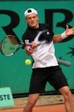Evgeny Korolev bei Roland Garros Stockbild