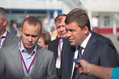 Evgeny Kuyvashev and Vadim Badekha Stock Photography