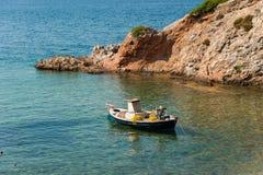 Evia海岛海岸 免版税库存照片