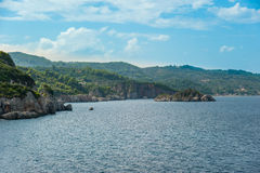 Evia海岛海岸 库存照片