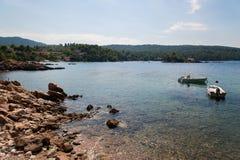 Evia-Insel-Küste Stockfotografie
