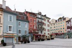 EVIAN-LES-BAINS, FRANCE/EUROPE - 15 ΣΕΠΤΕΜΒΡΊΟΥ: Καταστήματα στο evian-LE Στοκ Εικόνες