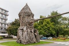 EVIAN-LES-BAINS, FRANCE/EUROPE - 15 SETTEMBRE: Statua di Pinocchio Immagini Stock Libere da Diritti