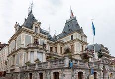 EVIAN-LES-BAINS, FRANCE/EUROPE - 15 SETTEMBRE: Vista dell'hotel de Fotografie Stock