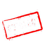 Evicted red rubber stamp isolated on white. Evicted red rubber stamp isolated on white background. Grunge rectangular seal with text, ink texture and splatter Royalty Free Stock Photography