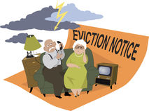 Evicted seniors Stock Images